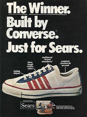 1974 Converse The Winner Low Cut & High Top Shoes Just For Sears Print Ad