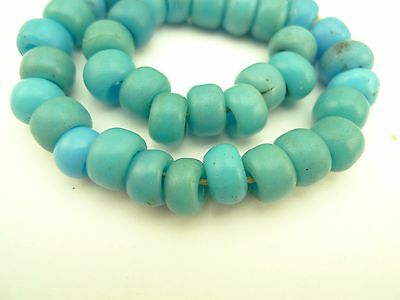 40 pcs matched turquoise padre style glass trade beads spacers African AB-0131