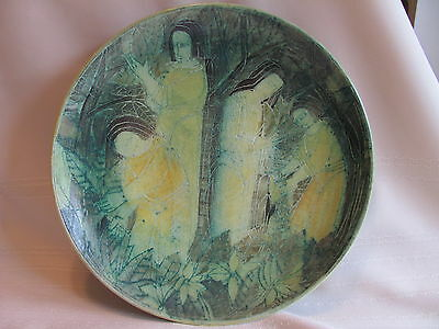 T & S Harlander Brooklyn Art Pottery Canada Canadian Wall Plaque Charger Mint !