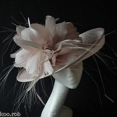 Nude Sinamay Hat For Ascot Races, Weddings, Special Occassions
