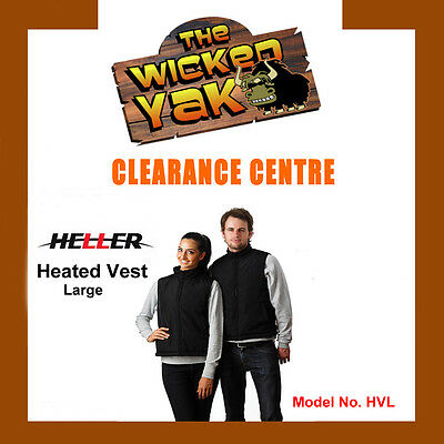 Heller Unisex Rechargeable Electric Heated Vest Size L FREE SHIPPING BRAND NEW