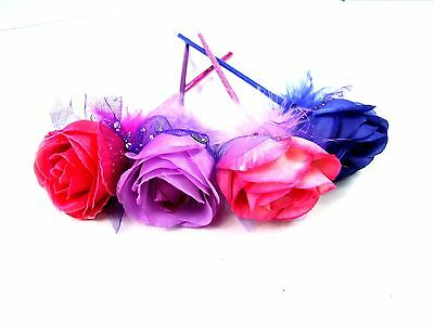Novelty Beautiful Feather Rose Flower Fluffy Fun Gift Ballpoint Stationery Pen