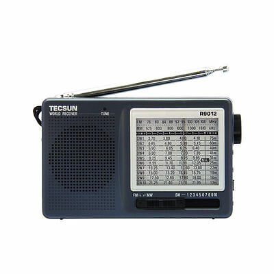 TECSUN R-9012 Portable Radio AM FM SW MW 12 band Multi-bands World Radio Scanner