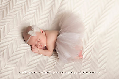 Mohair handmade headband- newborn/baby girl. Best photography prop.