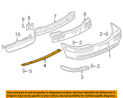 Buick GM OEM 97-05 Century Front Bumper-Lower Support 10255146