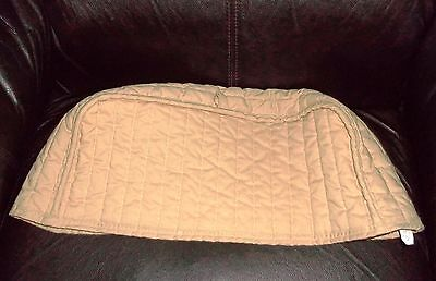 """Ritz Quality Beige Quilted Sm Appliance Cover 100% Cotton 16"""" x 7"""" x 5"""" Made USA"""