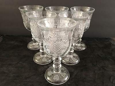 Vintage 1970s Avon Fostoria heart wine goblets / water glasses