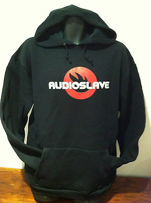 AUDIOSLAVE Red Logo HOODIE Pullover Sweatshirt NEW OFFICIAL MERCH Size LARGE