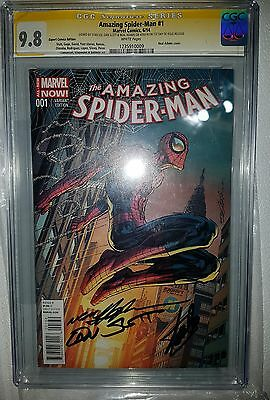 Amazing Spiderman 1 Expert Comics Edition cgc 9.8 signed by Stan Lee +2