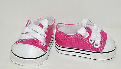 "Our Generation American Girl Dolls Gotz 18"" Doll Clothes Hot Pink Runners Shoes"