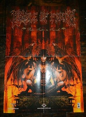 Cradle of Filth COF Bitter Suites to Succubi 2001 Extreme Metal Poster 23 x 16.5