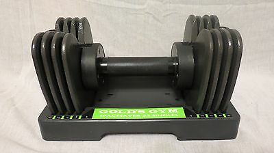 Single Gold's Gym Space Saver 25 Pound Singles Adjustable Plate Dumbbells