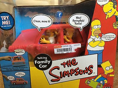 The Simpsons Talking Family Car WOS World of Springfield Playmates 2001 NIB