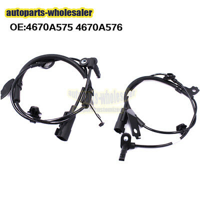 For Mitsubishi Lancer Outlander Set 2 ABS Wheel Speed Sensor Front Left & Right
