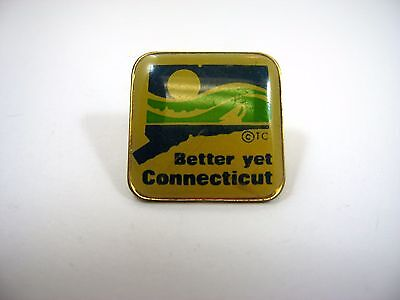 Vintage Collectible Pin: Better Yet Connecticut