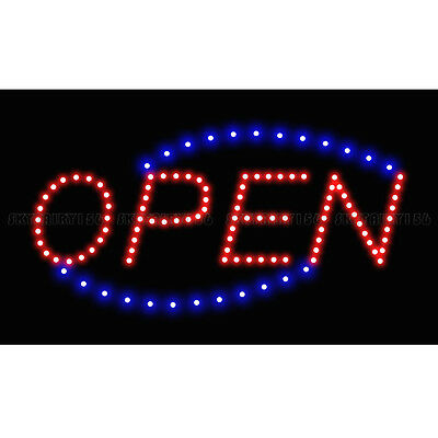 Bright Animated Motion Running LED Business Open Sign + On/Off Switch Light