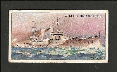 IMPERIAL JAPANESE NAVY Dreadnought Battleship TSUKUBA 1910 original vintage card
