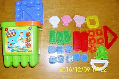 Stickle Bricks Complete Infant Builder Set In A Stickle Bricks Bucket.
