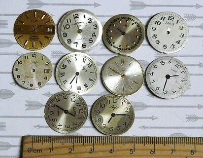 Steampunk Watch Parts Watch Faces Assorted 20-22mm Round x10PC