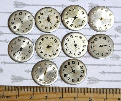 Steampunk Watch Parts Watch Faces Assorted 18mm Round x10PC PK122