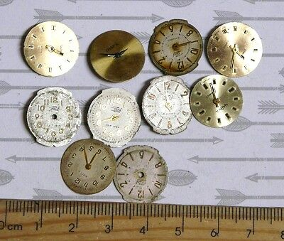 Steampunk Watch Parts Watch Faces Assorted 18x16mm 16mm Oval Round x10PC PK126