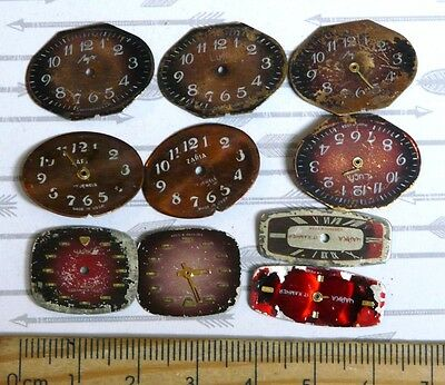 Steampunk Watch Parts Watch Faces Assorted 22x16 22x8mm Oval  x10PC PK203