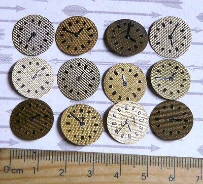 Steampunk Watch Parts Watch Faces Assorted 15mm Round  x12PC PK314