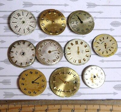 Steampunk Watch Parts Watch Faces Assorted 22-24mm Round  x10PC PK405