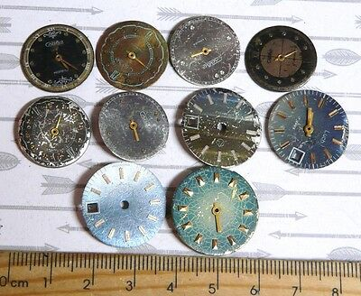Steampunk Watch Parts Watch Faces Assorted 18-22mm Round  x10PC PK417