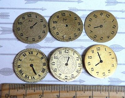 Steampunk Watch Parts Watch Faces Assorted 22mm Round  x6PC PK419