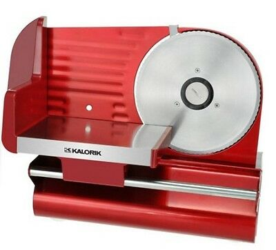 Meat Slicer Red Electric 200W Food Cutter Stainless Steel Blade Home Kitchen