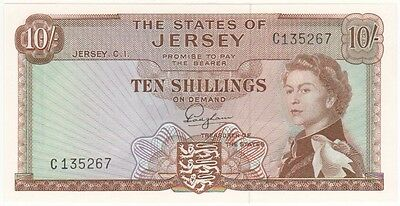 Jersey 10 Shillings Signed Padgham, Prefix C, Uncirculated