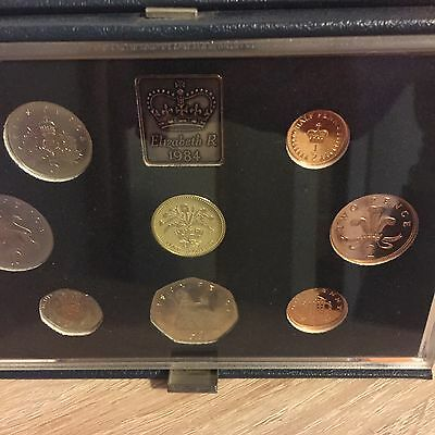 Royal Mint Proof Set Blue Deluxe 1984 Coin Year Set