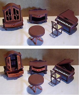 Mobilier miniature poupée JEAN GERMANY piano vintage doll furniture wardrobe