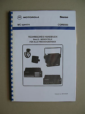 Storno CQM6000 - Motorola MC spectro Service Manual Band II: Bedienteile