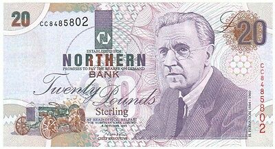 Northern Bank £20 Dated 1999, Prefix Cc, Uncirculated Condition