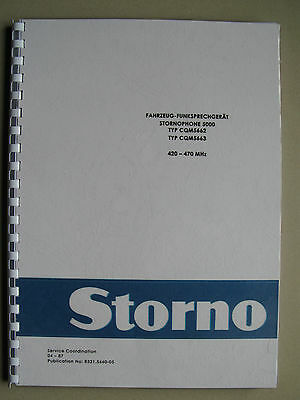 Stornophone 5000 - Storno CQM5660 UHF-Band  Service Handbuch - TOP Zustand !
