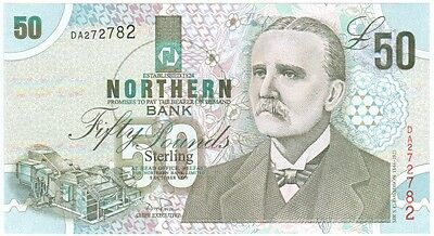 Northern Bank £50 Dated 1999, Prefix Da, Uncirculated Condition