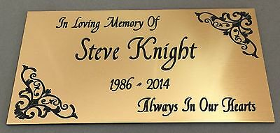 BP27 IN LOVING MEMORY OF ABS Engraved Brass Memorial Plaque Plate Grave Marker