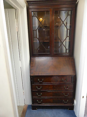 Antique Bureau Book Case Dispaly Cabinet Antique Writing Desk Delivery Available