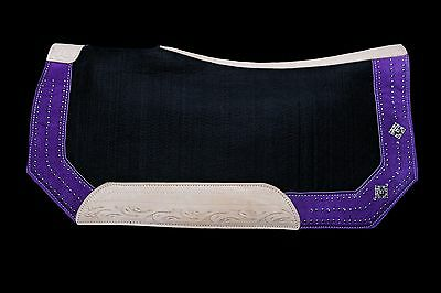 Lariat Workin' It Western Contoured Saddle Pad Purple FREE SHIPPING!