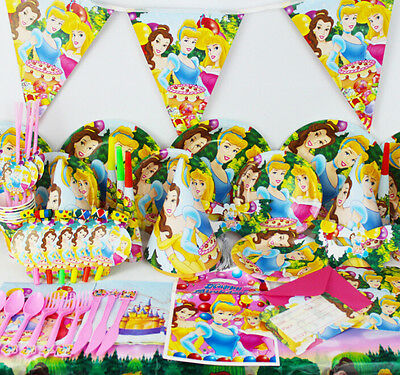 90Pcs Princess Kids Party Decoration Birthday Party Pack Party supplies K149