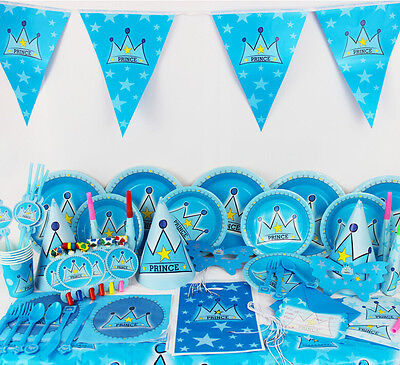 90Pcs/Set Prince Kids Party Decoration Birthday Party Pack Party supplies K156