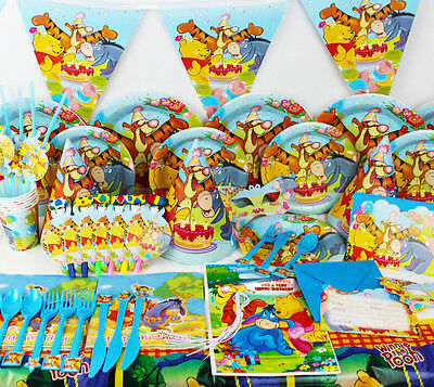90Pcs Winnie The Pooh Kids Party Decoration Birthday Party Pack supplies K158