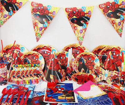 90Pcs Spider-man Kids Party Decoration Birthday Party Pack event supplies k161