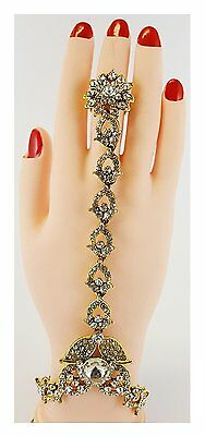 Hand Panja Bracelet Chain Bollywood Indian Jewellery ( Left/right Hand)