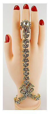 Indian Jewellery Bollywood Hand Chain Bracelet/Stone Panja - (Left/Right Hand)