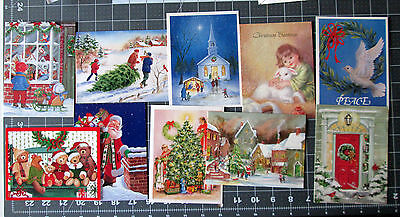 Lot 10 Vintage March of Dimes Christmas Cards with Envelope UNUSED