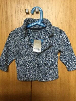 Baby Boys Next Knitted Blazer/cardigan Brand New Age 6-9 Months Rrp £16