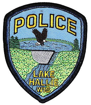 LAKE HALLIE WISCONSIN WI Police Patch DAM RIVER EAGLE PARK ~